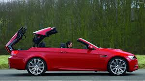 Bmw M3 Red - side pose of 2008 bmw m3 convertible in red wallpaper