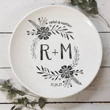 25th anniversary plates personalized 1013mon personalized painted wedding platter monogram