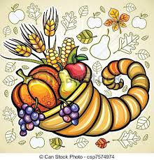 eps vector of thanksgiving theme harvest cornucopia csp7574974