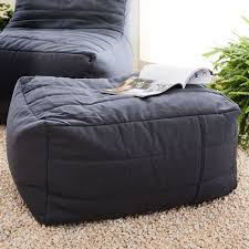 bean bag chair with ottoman channeled outdoor bean bag ottoman west elm