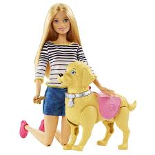 amazon barbie girls walk potty pup blonde doll toys