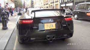 lexus v10 engine lexus lfa crazy v10 exhaust sound in the city youtube