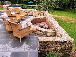 home design rustic backyard fire pit ideas contemporary medium