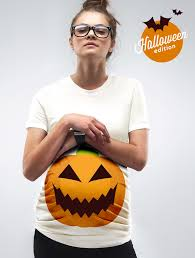 Halloween Shirt For Pregnant Women a pumpkin bump