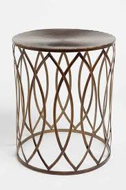 round metal side table best round metal accent table 1000 images about dining and side