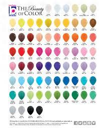 balloon color chart balloons to go
