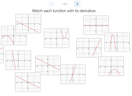 engaging math derivative matching cards