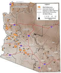 map az blm az wilderness areas map