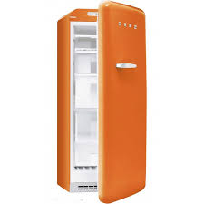 smeg fab28ro1 anni 50 fridge freezer cm 60 lt 256 orange