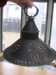 punched tin lighting fixtures primitive black punched tin l shade pendant l pendant ls