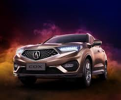 first acura acura cdx the first chinese built model from this brand launched