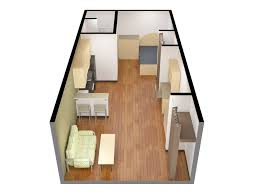 graduate residence studio unit floorplan residence services
