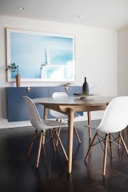 mid century modern dining room set up lauren nelson design