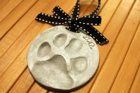clay paw print ornaments pawz