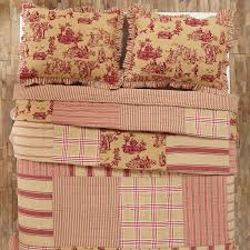 elaine rouge twin patchwork toile quilt teton timberline trading