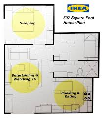 ikea u0027s 597 square foot house plan 2 bedrooms kitchen and ikea