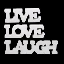 Live Laugh And Love by 3pcs Set White Wooden Live Laugh Love Words Sign Plaque Birthday