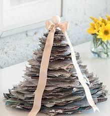 Homemade White Christmas Decorations by Homemade Christmas Tree Made Newspapers