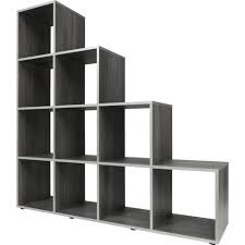 furniture home metal and wood bookcase with five empty shelves