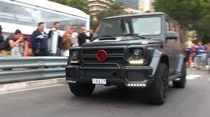 mercedes jeep matte black matte black u0027brabus b70 u0027 mercedes g63 amg w red details in monaco