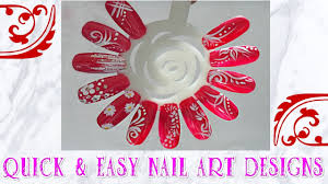 easy nail art designs for beginners flowers stripes summer asian