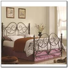 king metal bed frame headboard footboard 448