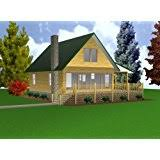 Covered Porch Plans 24x24 Cabin W Covered Porch Plans Package Blueprints Material