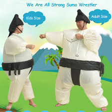 Sumo Wrestling Halloween Costumes Halloween Inflatable Sumo Wrestler Costume Unisex Fat Suite