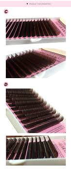 4 trays set 16rows case brown color eyelash extension mink eyebrow