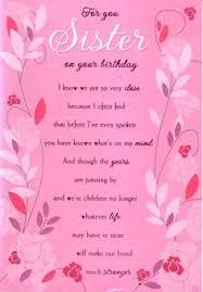 birthday card birthday card for a sister facebook wishes happy