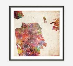san francisco map painting this gold leaf map of san francisco by alex elko design on