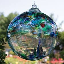 these tree of enchantment blown glass balls are an