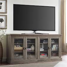 sauder barrister lane storage credenza tv stand salt oak hayneedle