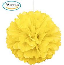 Yellow Pom Pom Flowers - amazon com 10pcs royal blue tissue hanging paper pom poms hmxpls