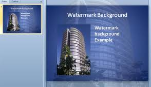 how to create watermark backgrounds for powerpoint how to embed