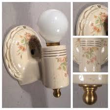Antique Bathroom Light Fixtures - vintage porcelain wall sconces u2022 wall sconces
