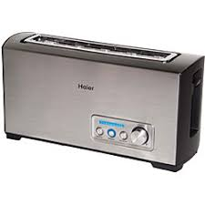 Toaster Oven With Toaster Slots Haier Tst120ss Stainless Steel Long Slot Digital Toaster For My