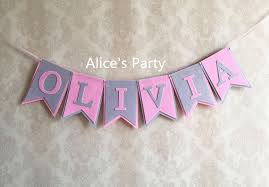 baby shower banners personalized baby shower banner custom girl name bunting pink