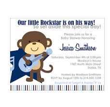 Birthday Invitation Card For Baby Boy Printable Monkey Baby Shower Invitations Rockstar Monkey Baby