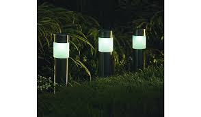 solar powered pillar lights white solar powered pillar lights set of 4 home garden george