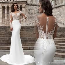 fishtail wedding dress 2017 wedding dress vintage lace sleeve brigade sand