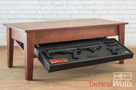 coffee table gun cabinet best gun concealment furniture to keep deadly weapons secure