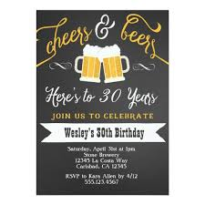 party invitation cheer and beers birthday party invitation for men zazzle