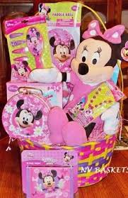 pre made easter baskets for babies minnie mouse easter basket by vyjcreations on etsy 25 00