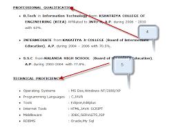 Sql Resume For Freshers Sample Java Professional Resume For Freshers Offcampusjobs In