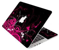 black pink butterfly apple macbook pro 15 a1286 laptop skin