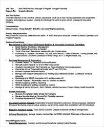 Non Profit Program Director Resume Sample by Operations Director Job Description Non Profit Business Manager