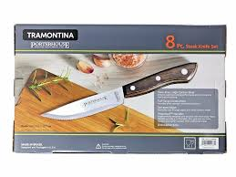 amazon com tramontina porterhouse 8 pc steak knife set steak
