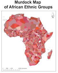 africa map before colonization conflict and the murdock map of ethnic boundaries