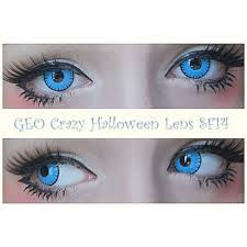 light blue cosplay contacts geo crazy halloween lens sf14 crazy lens halloween crazy lens by